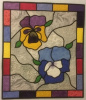Stain Glass Pansies Quilt